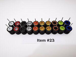 10 set MIX 5 bolt black tyre Samed Wheels premium rubber wheel for 1:64 cars #23