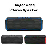 Rechargeable Bluetooth Speaker Wireless Portable Stereo Bass USB/AUX/TF/FM Radio