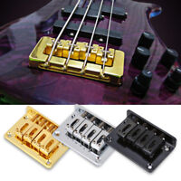 4-string Bridge for Cigarbox Electric Guitar Bass Ukulele Gold Silver Black