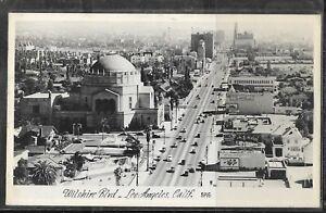 Judaica Old Postcard Jewish Synagogue Los Angeles CA