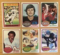 1976 Topps (6) Football Cards With George Blanda #1 & Rookies