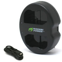 Wasabi Power Dual USB Battery Charger for Nikon EN-EL15, MH-25, MH-25a