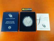2019 W BURNISHED SILVER EAGLE IN BOX/COA MINT FRESH KEY DATE OF BURNISHED SERIES