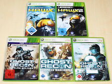 5 GIOCHI XBOX 360 raccolta TOM CLANCY 'S GHOST RECON 2 future Hawx H.A.W.X. 1 2