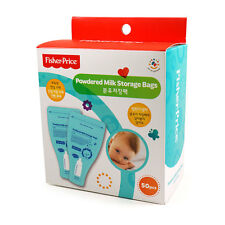 Fisher Price Disposable Powdered Milk Storage Bags 50 Count BPA Free FP024