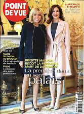 POINT DE VUE N°3595 14 JUIN 2017 BRIGITTE MACRON & MARY DE DANEMARK_SIMEON_MAKO