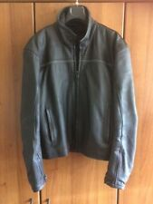 giacca moto in pelle nera 2XL