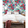 Removable wallpaper Colorful Flowers Peel and stick Floral Watercolor Home Decor
