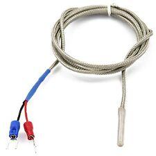 K-Typ Thermoelement Temperatursonde Sensor 1M 100cm 0-600 Grad für 3D-Drucker