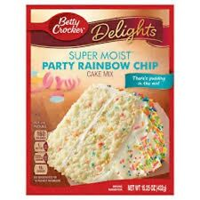 Betty Crocker Moist Party Rainbow Chip Cake Mix  432g