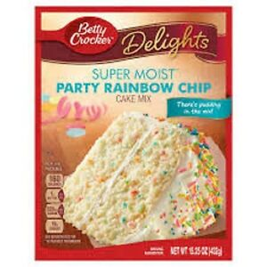 Betty crocker Party Rainbow Chip Cake Mix 15.25oz 432g