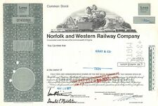 Ancienne action américaine - Norfolk and Western Railway Compagny 10 Shares 1977