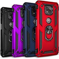 For Motorola Moto G Power 2021 Case, Kickstand Cover + Tempered Glass Protector