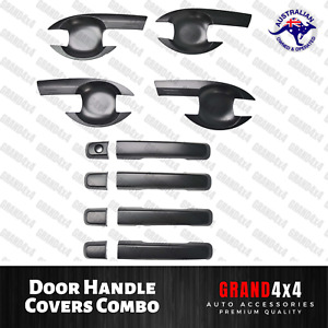 Door Handle Cover + Door Guard Bowl Insert for Isuzu D-Max DMax 2012 - 2019