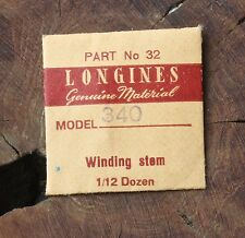 Vintage Longines 340 automatic watch winding stem NOS Swiss Longines watch part
