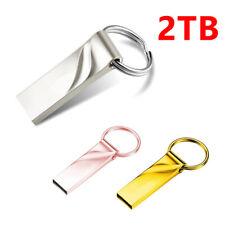 Usb 3.0 2Tb Flash Drives Memory Stick Pen U Disk Key Ring for Pc Laptop