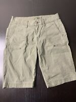 PrAna Women Outdoor Fishing Hiking Camping Summer Green Shorts Size 2 B23