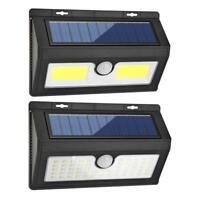 LED Luz Solar Exterior Lámpara de Pared Jardín Proyectores con Sensor Movimiento