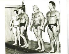 Arnold Schwarzenegger/ REG PARK/ Draper/ John Bubb 1970 Pro Universe Photo B&W