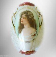 Vintage Royal Vienna vase woman portrait - artist signed - Austria FREE SHIPPING