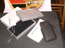PORSCHE DESIGN DRIVER'S SELECTION 1-4 GENERATION CRESTED LEATHER IPHONE CASE NIB