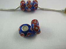 MURANO GLASS BEAD WITH RHINESTONES FOR EUROPEAN STYLE CHARM BRACELETS  - RB 007