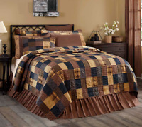 PATRIOTIC PATCH QUILT SET-choose size & accessories-Americana Rustic VHC Brands