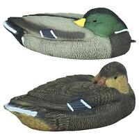 "Nitehawk Male & Female 15"" Shooting/Hunting Floating Duck Decoys, Mallard/Drake"