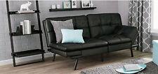 Leather Memory Foam Split Futon Folding Couch Sofa Convertible Sleeper Bed Recli