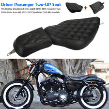 Detachable Driver Passenger Two-Up Seat for Harley-Davidson Sportster 883 1200
