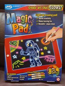 JML Magic Pad LED Writing Screen Drawing Tablet Doodle Toy Learning Reusable uk