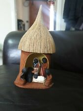 UGANDA Banana Leaf Hut Nativity Scene