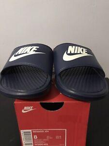 Nike Benassi JDI Sliders Slides Pool Sandals Navy UK 7 US 8 EUR 41