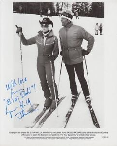 LYNN HOLLY JOHNSON 007 JAMES BOND AUTOGRAPH AS BIBI  DAHL IN FOR YOUR EYES ONLY