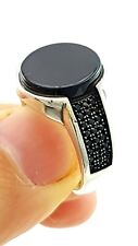 Quality Men's Rings Onyx D1401 Turkish Ottoman Jewelry Handmade High