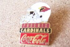 Arizona Cardinals helmet Coca-Cola pin NFL Coke Coca Cola