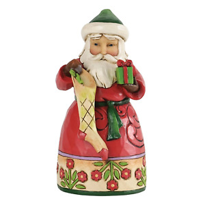 Jim Shore Heartwood Creek Pint Sized Santa with stocking