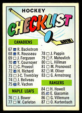1967 68 TOPPS HOCKEY #120 CHECKLIST 40%MARKED 2nd 67-132 VG-EX FREE SHIP TO USA