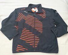 NWT Puma IT EvoPower Woven Jacket Ombré Blue-Fluro Evo Peach Men's Size Large