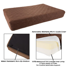 Large Pet Bed Memory Foam Waterproof & Removable Washable Cover