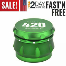 Green Tobacco Herb Spice Grinder Herbal Alloy Smoke Metal Chromium Crusher
