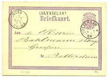 NED  EGYPT LANGST = COLIJNSPLAAT 1873   BRIEFKAART     VW   PR EX