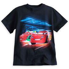 Disney Store Cars Lightning Mcqueen Boy Short Sleeve T Shirt Tee Size 5/6