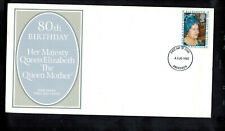 Fdc-1270*1980 Great Britain- The Queen Mother *Cachet*