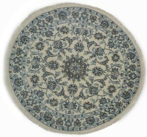 Thick Pile Classic Floral Style Round Rug 5X5 Hand Knotted Oriental Decor Carpet