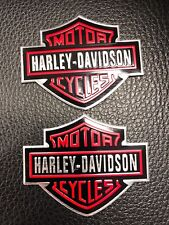 HARLEY DAVIDSON TANK EMBLEMS BADGE SIGN MOTORCYCLE RED COLLECTION NEW