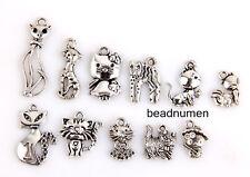 11pcs any zinc alloy Mix cat style Jewelry Making Pendant findings M6