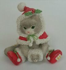 Calico Kittens 1993 Wrapped in the Warmth of Friendship Enesco 628174 Christmas