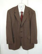HART SCHAFFNER MARX GOLD TRUMPETER jacket blazer sport coat plaid long 48 48L