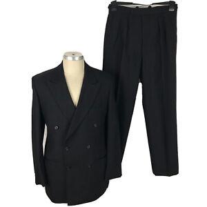 "Holland & Sherry Savile Row Suit By Arthur Fletcher Jacket 40 Trousers W30"" L29"""